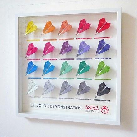 1/2スケール・カラー・デモンストレーター 和紙にレーザープリント、他 Half Scale Color Demonstrators Laser print on Japanese paper, etc 50.0×50.0cm 2011