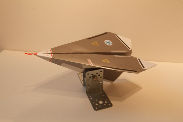 PAX-4 Mock-Up 木彫、着彩、他 Acrylic on wood, etc H.17.0×L.36.0×W24.5cm 2010